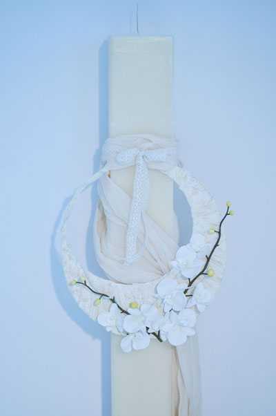 Λαμπάδα για γάμο-βάπτιση vintage