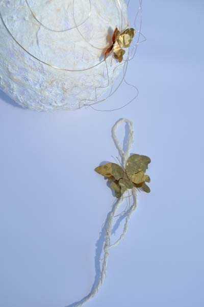Μπομπονιέρα κρεμαστή για γάμο-βάπτιση vintage