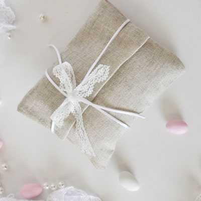Μπομπονιέρα γάμου φάκελος λινός (gdg8)