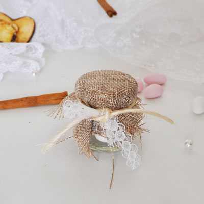 Μπομπονιέρα γάμου βαζάκι Vinntage -aa100107