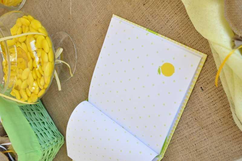 Βιβλίο ευχών λεμονάκι