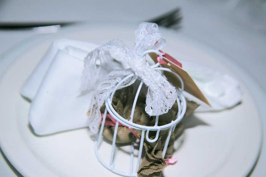 Μπομπονιέρα γάμου vintage κλουβλάκι