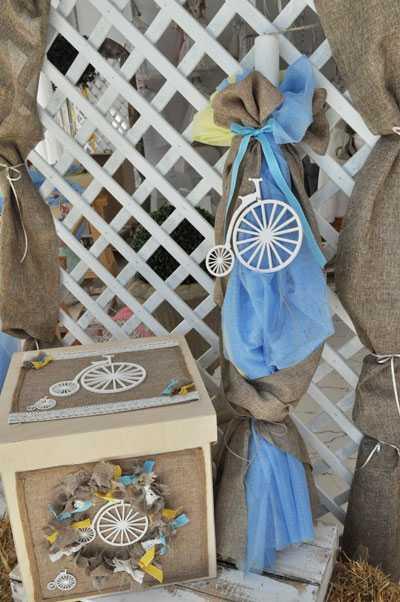 Set βάπτισης vintage ποδήλατο(s502)
