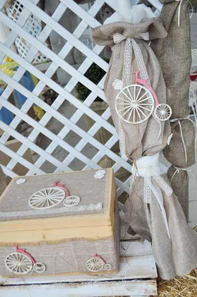 Set βάπτισης vintage ποδήλατο(s501)