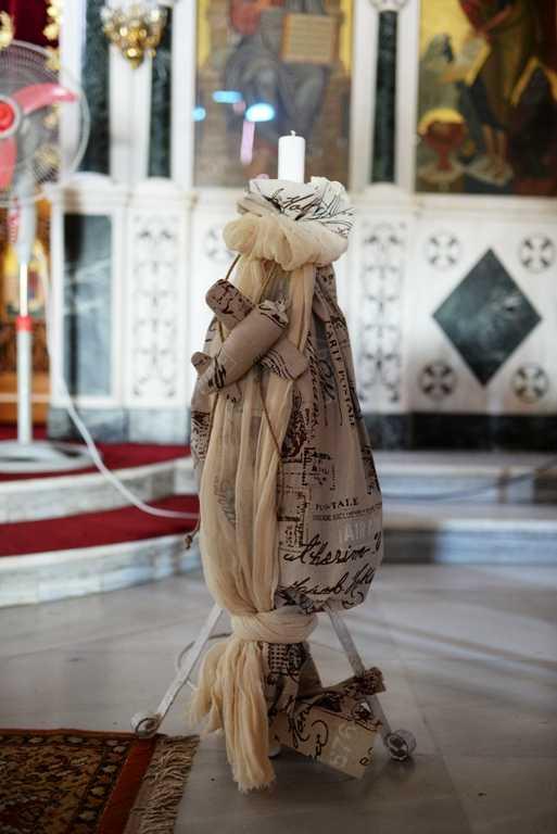 Λαμπάδα βάπτισης με θέμα ταξιδιώτης
