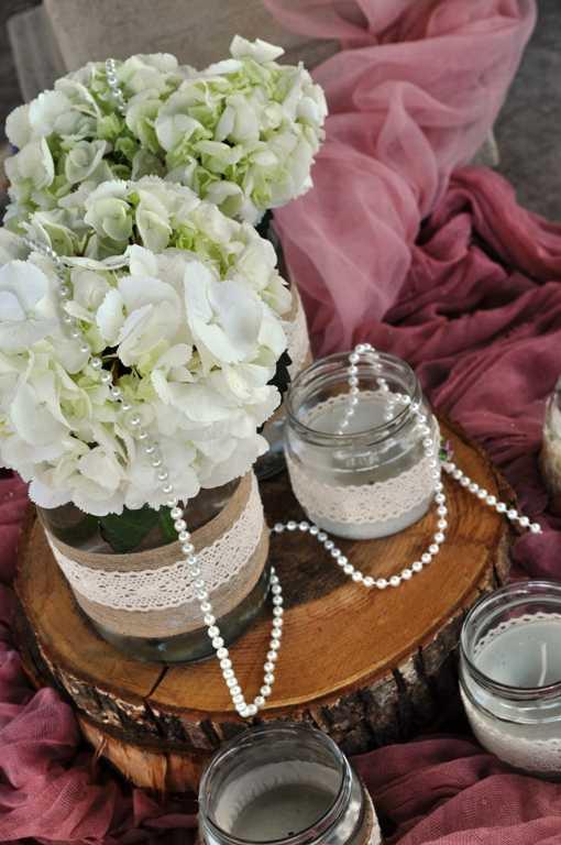 Ρομαντικό στολισμός βάπτισης
