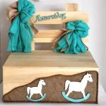 Κουτί βάπτισης παγκάκι με θέμα το αλογάκι (kv17.01)