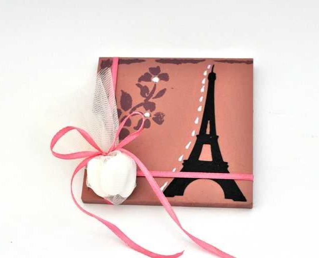 Χειροποίητη μπομπονιέρα με θέμα Paris (xbkf17.07)
