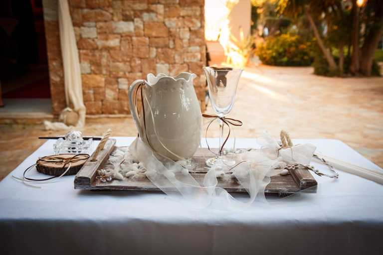 Στολισμός γάμου στο κτήμα Κρωπίας γης