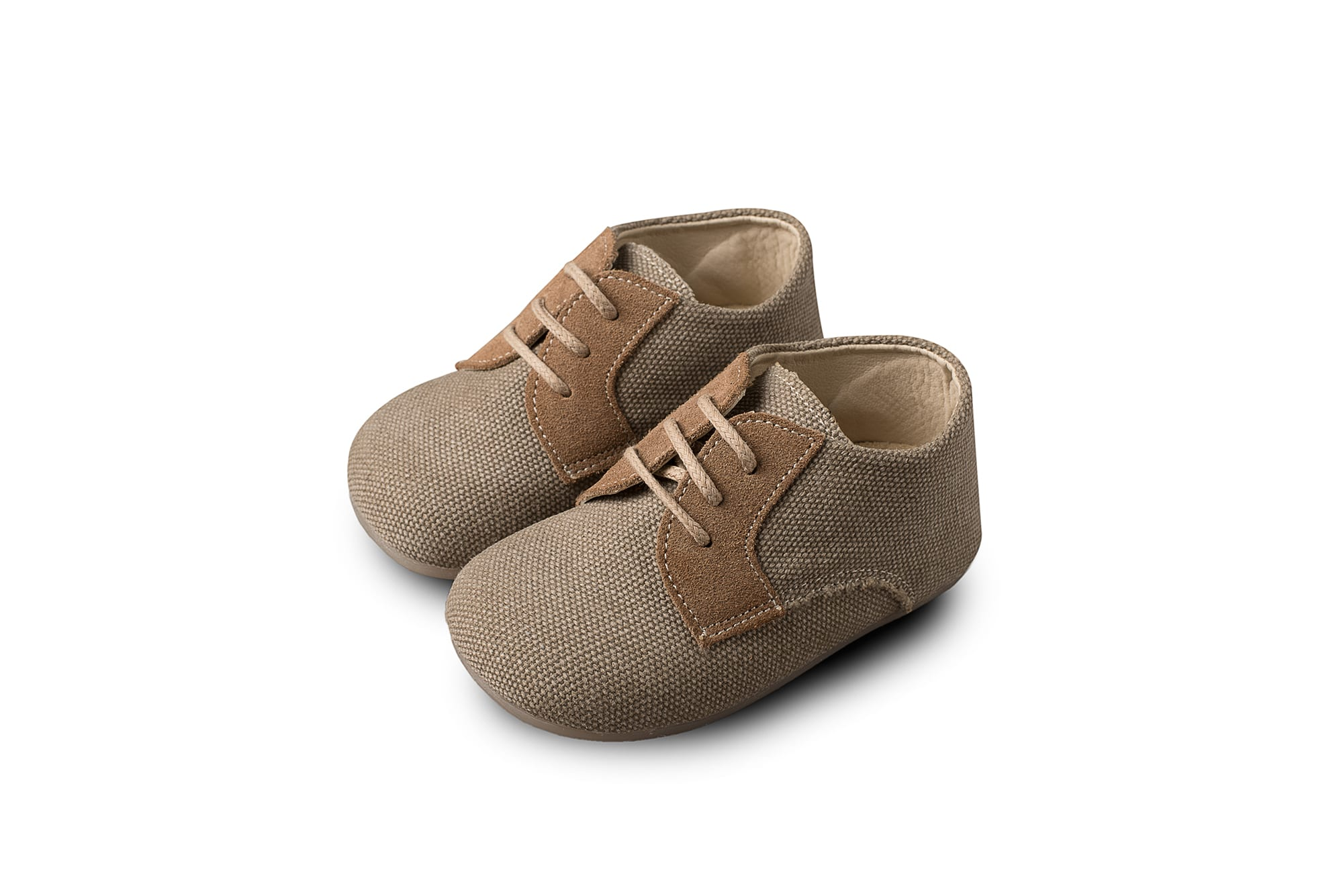 049af54c1ff Βαπτιστικά Παπούτσια για Αγόρι Babywalker Δετά Υφασμάτινα Brogues