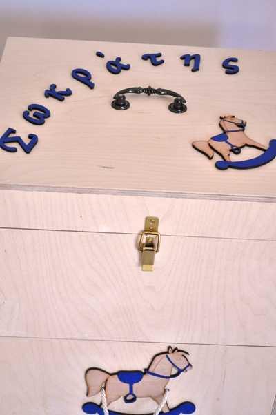 Κουτί βάπτισης με θέμα carouzel (kv17.07)