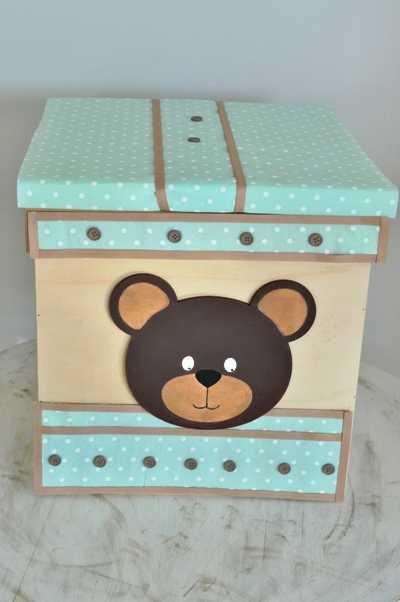 Κουτί βάπτισης με θέμα little bear (kv18.01)