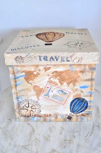 Κουτί βάπτισης με θέμα travel (kv18.02)