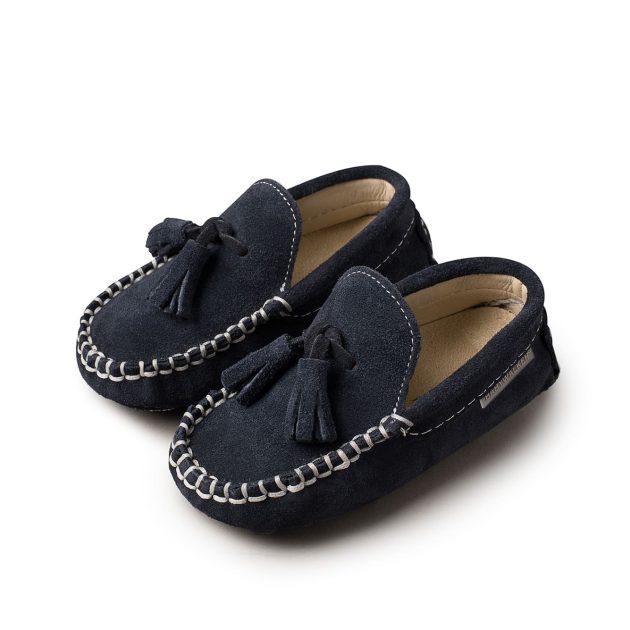 Παπούτσια Βάπτισης Babywalker για Αγόρι - Loafer Καστόρινο (BW4011) (Μπλε)