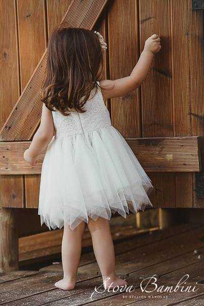 Βαπτιστικό φόρεμα με κροσέ-πλεκτό Sassa by Stova Bambini (SS18 G14)