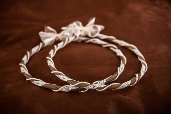 Χειροποίητα ξύλινα στέφανα γάμου (E.Σ 496)