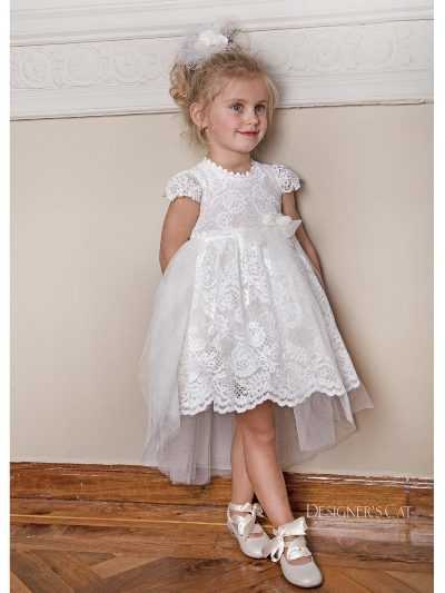 816f0e32aa32 Δαντελένιο Φόρεμα Βάπτισης Designer s Cat Elsa (DC 100031)
