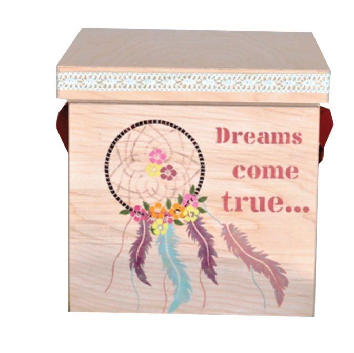 κουτί βάπτισης με θέμα ονειροπαγίδα (kv18.06)