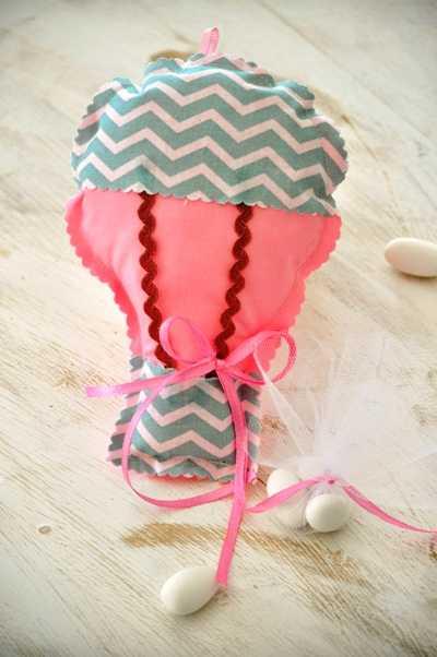 Μπομπονιέρα βάπτισης αερόστατο (xb18.20)