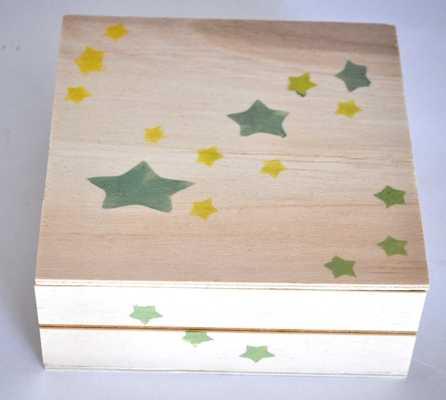 Κουτί βάπτισης με αστεράκια για τα μαρτυρικά