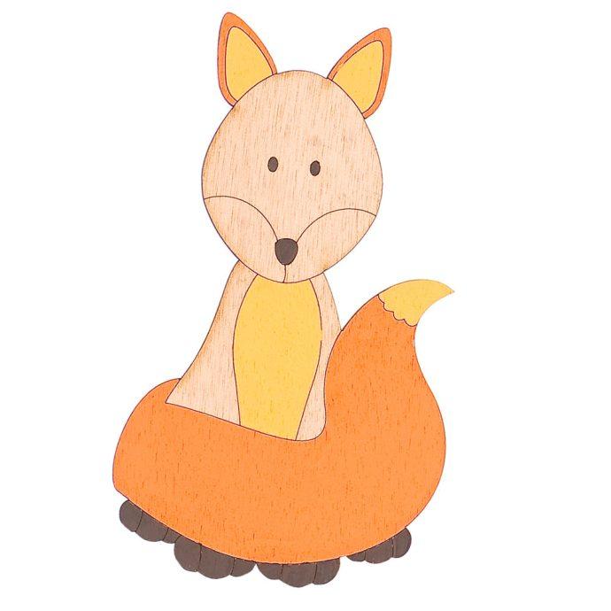 Ξύλινο Διακοσμητικό Αλεπού