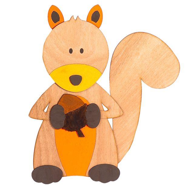 Ξύλινο Διακοσμητικό Σκίουρος