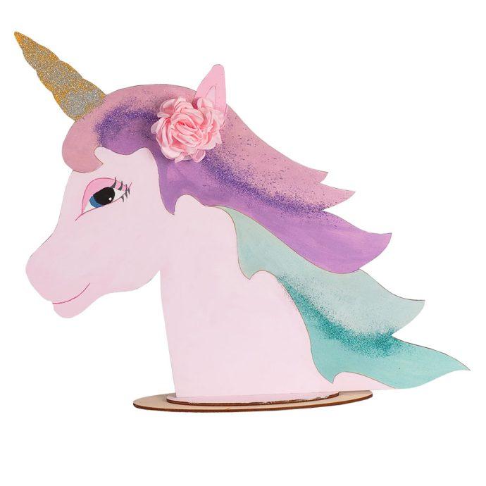 Ξύλινο Διακοσμητικό Unicorn / Μονόκερος