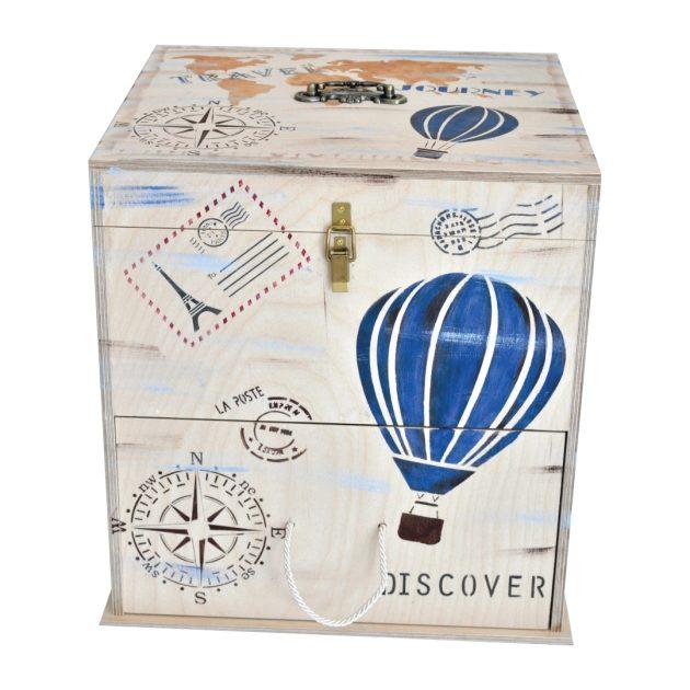 Κουτί Βάπτισης με Θέμα Ταξίδι / Travel