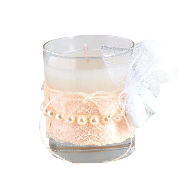 Μπομπονιέρα γάμου κερί αρωματικό (km19.23)