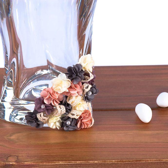 Σετ Κουμπάρου με Χειροποίητα Λουλουδάκια από Ύφασμα (b19.01)