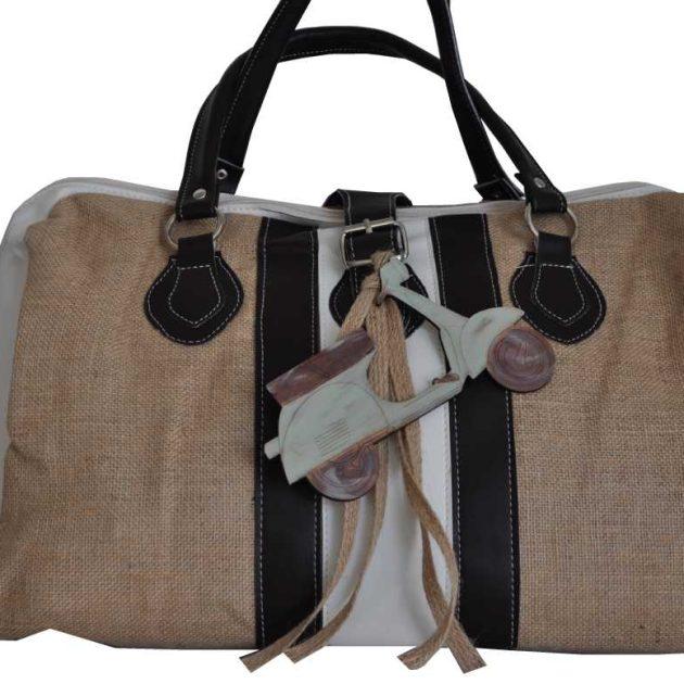 Τσάντα βάπτισης με θέμα βέσπα vintage (kv19.09