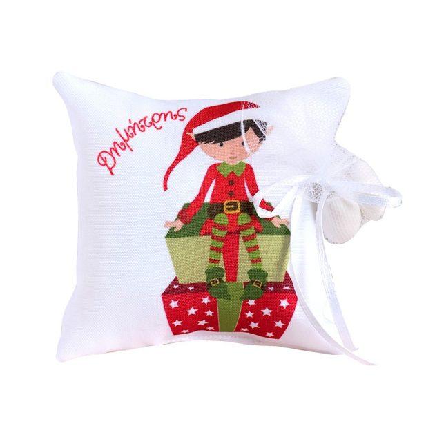 Χειροποίητη Μπομπονιέρα με Θέμα τα Χριστούγεννα