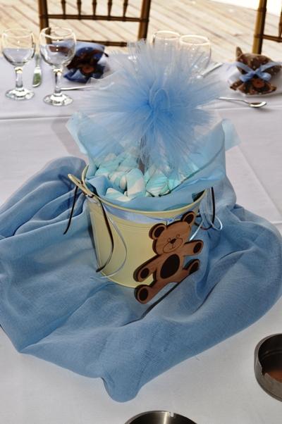 Στολισμός Τραπεζιών Βάπτισης με Θέμα Αρκουδάκι / Little Bear