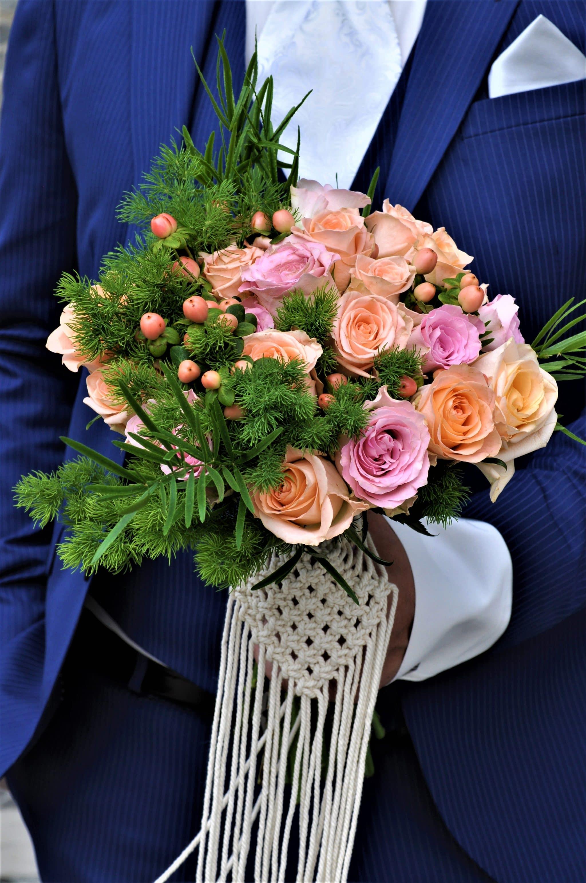 Νυφική ανθοδέσμη γάμος boho στην Εύβοια 1