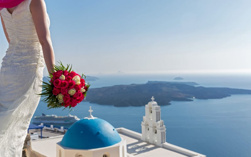 Bride in a Greek Church, Santorini