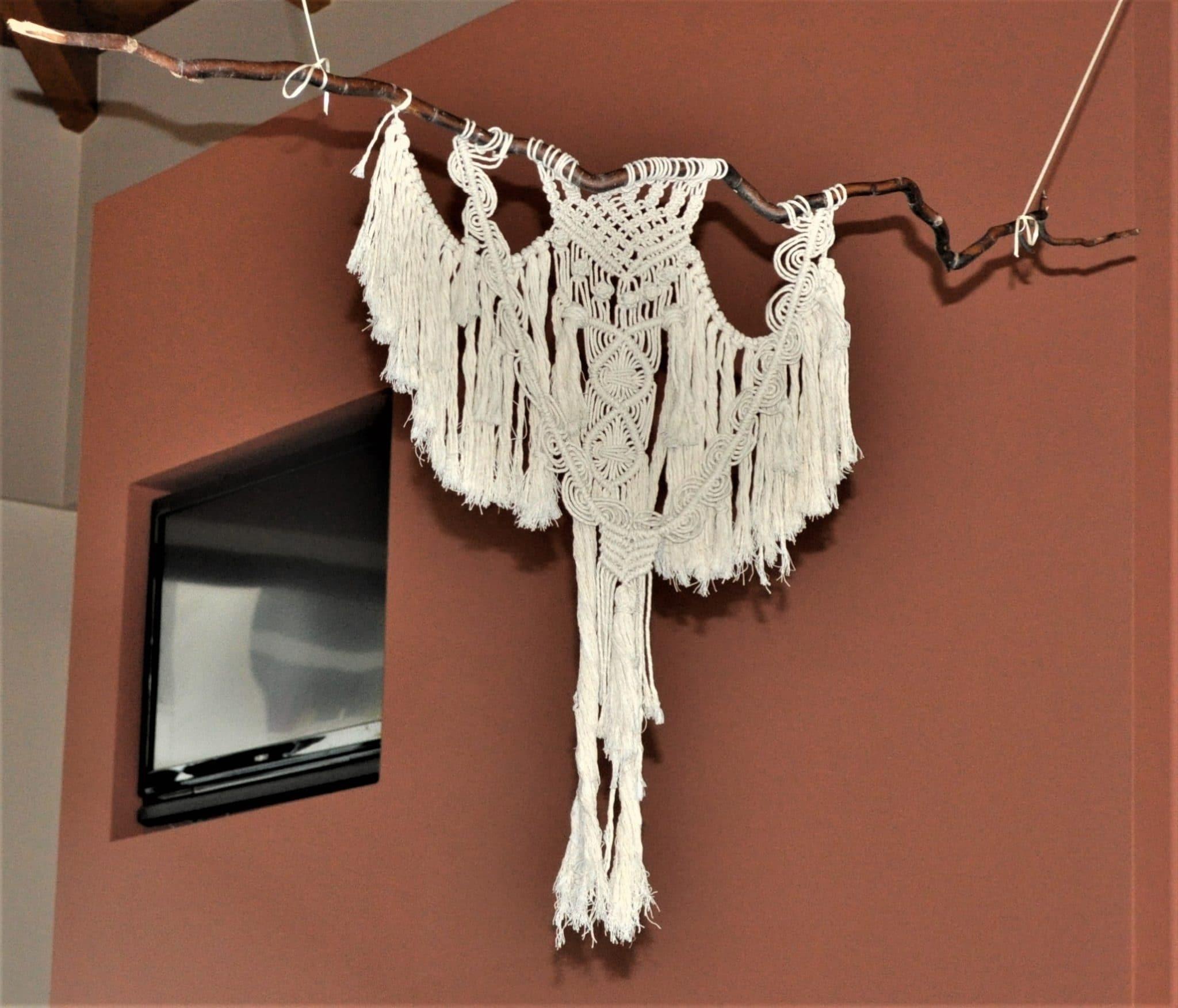 Handmade wall hanging macrame