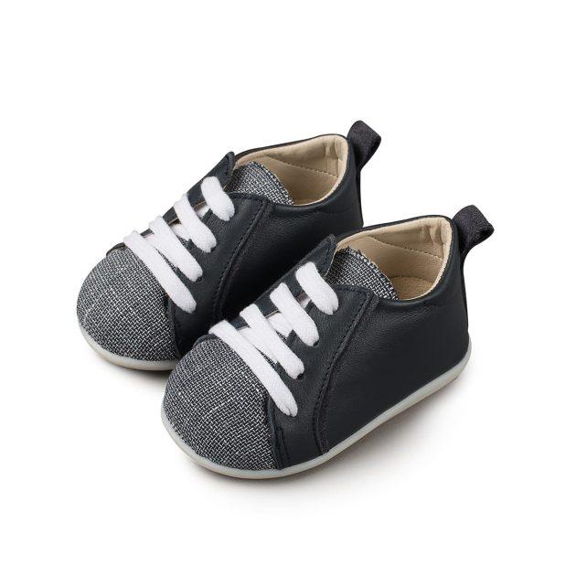 Βαπτιστικό Δετό Sneaker για Αγόρι από Δέρμα και Ύφασμα (PRI.2051)