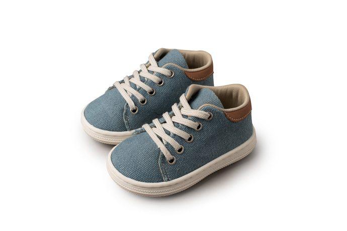 Υφασμάτινο Δετό Βαπτιστικό Sneaker για Αγόρι (BS.3029)