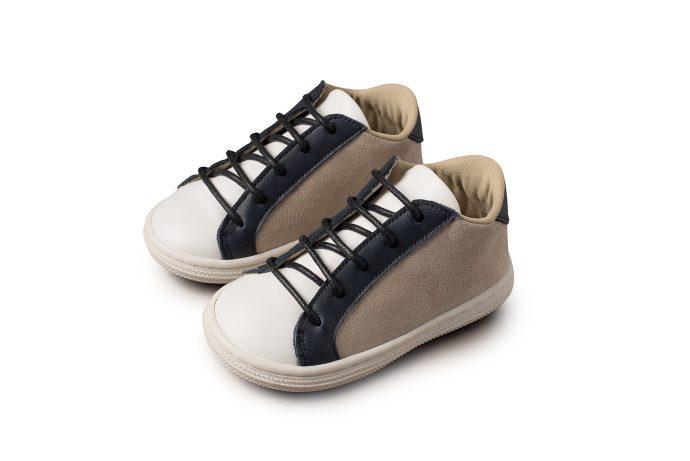 Τρίχρωμο Δετό Βαπτιστικό Sneaker για Αγόρι (BS.3039)