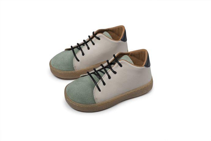 Δίχρωμα Δετά Βαπτιστικά Sneakers για Αγόρι (BW.4172)