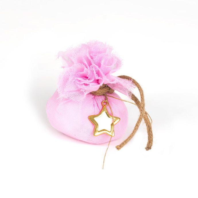 Μπομπονιέρα Βάπτισης My little Star (Ροζ)