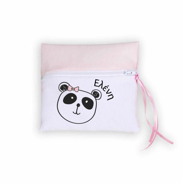 Χειροποίητη Μπομπονιέρα Τσαντάκι με Panda