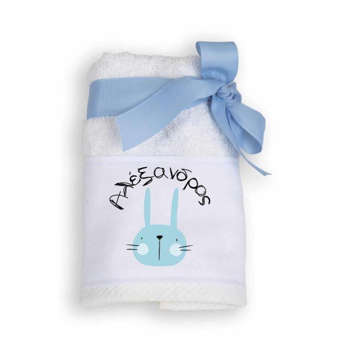 Μπομπονιέρα Πετσέτα με θέμα Little Rabbit