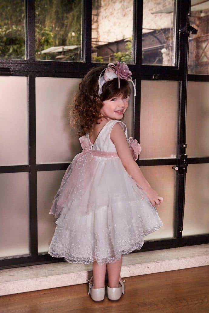 Κομψό Φόρεμα Βάπτισης Dolce Bambini (dbg544)