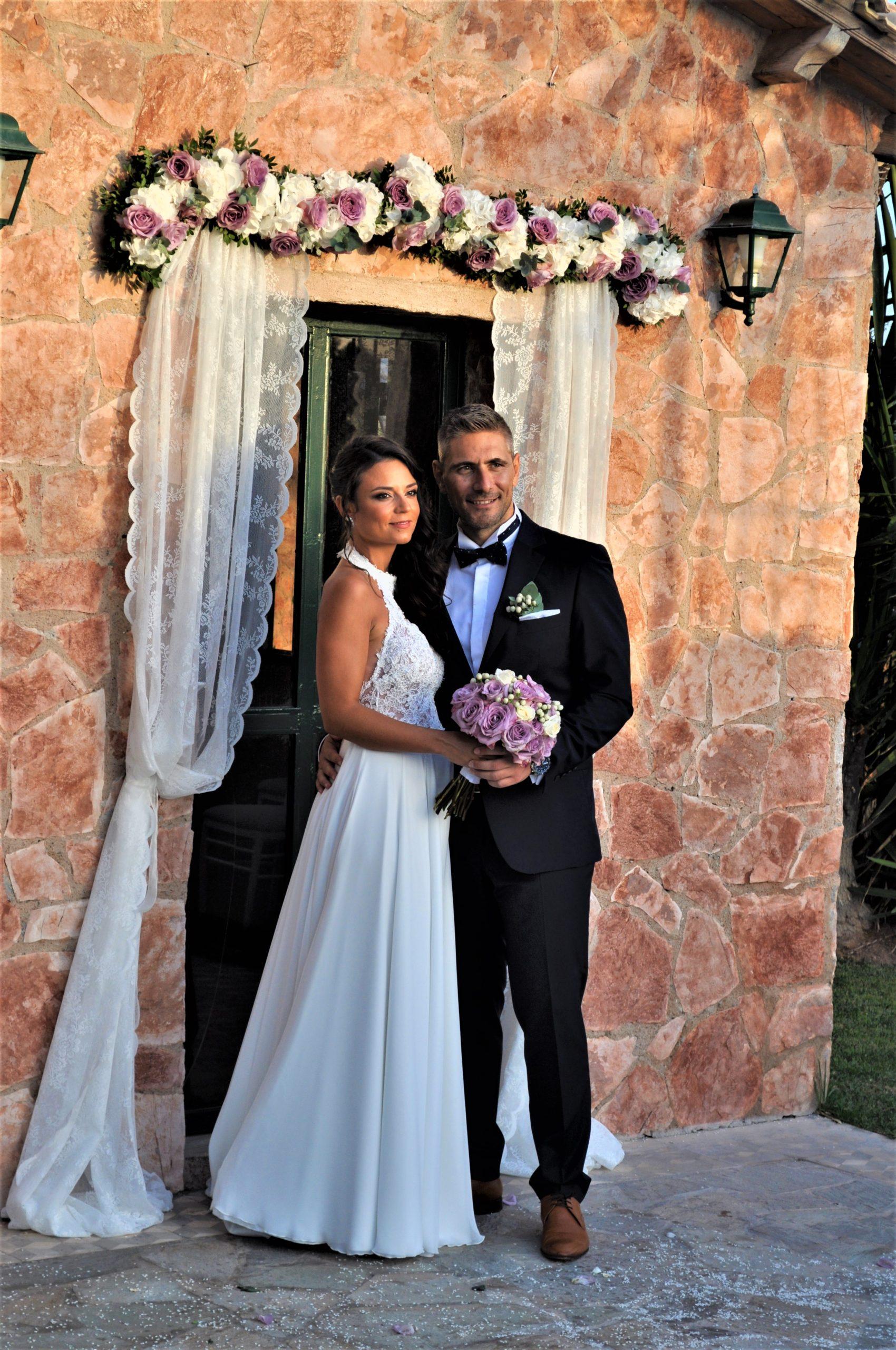 Γάμος σε Λιλά Αποχρώσεις στο Κτήμα Γαία