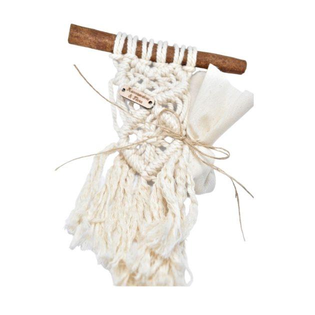 Χειροποίητη Μπομπονιέρα Γάμου Macrame (20.21.01)